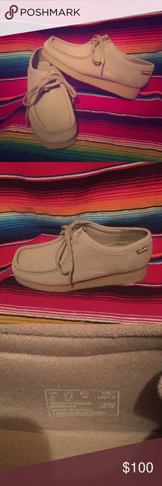 Not my style Beige moccasin women's Clarks! Size 7.5. Worn once maybe twice. Brand new, and super comfy! Clarks Shoes Moccasins