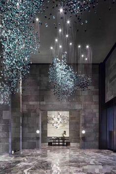 Best Place to find hotel lobby design Luxury Decor, Luxury Interior Design, Home Interior, Modern Interior, Luxury Hotel Design, Modern Hotel Lobby, Hotel Lobby Design, Ceiling Design, Lamp Design