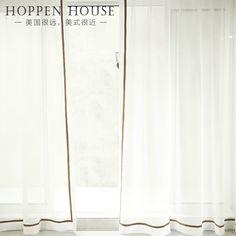 48rmb 温馨定制棉麻窗纱成品加厚纯色白纱帘卧室客厅阳台飘窗帘纯净美式-淘宝网