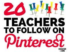 20 Teachers to Follow on Pinterest