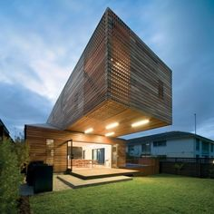 The Trojan House. The Trojan House by Jackson Clements Burrows Architects. Style At Home, Amazing Architecture, Architecture Design, Parametric Architecture, Clad Home, Archi Design, Modern Architects, Small Buildings, House Architecture