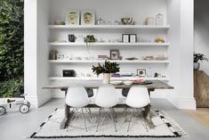 Revealed: Australia's Room of the Year 2016 plus the finalist. Interior design by Ali Ross. Photography by Martina Gemmola. Interior Wall Colors, Interior Design, Homemade Home Decor, White Shelves, Open Shelves, Home Living Room, Kitchen Living, Living Spaces, Kitchen Styling