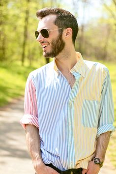 Brooks Brothers shirt Can totally see my william in this. Mens Vintage Shirts, Vintage Men, Casual Shirts For Men, Men Casual, Mens Designer Shirts, Mens Attire, Men Style Tips, Gentleman Style, My Guy