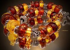 Carved Ambers from a collector in Trollbeads Gallery. Thank you for sharing Sharon!!!