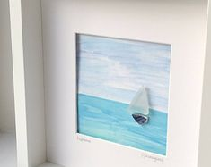 Customer order, Eupraxia, Boat picture, Sea glass picture, sea glass art, sailing boat picture