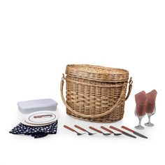 When the urge for a spur-of-the-moment picnic hits you, grab your Adeline Romance Picnic Basket and go! The Romance is made of rich chestnut brown willow with premium leatherette accents and a beautiful ivory quilted interior lining. Romance makes any picnic better!