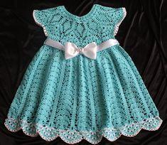 Summer dress Crocheted baby clothes Children dress up Handmade dress Crochet Spring Dresses, Baby Summer Dresses, Baby Girl Crochet, Crochet Baby Clothes, Baby Dress Patterns, Baby Knitting Patterns, Handmade Dresses, Handmade Clothes, Baby Outfits