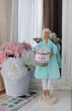 Купить Банный ангел в стиле Тильда. Хранительница ватных палочек. - комбинированный, тильда, кукла