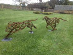 Tom Hill Sculpture - Foxhound