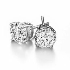 Platinum Round Diamond Stud Earrings (3/4 cttw, G-H color, S-I2 clarity) Diamond Stud Source. $1200.00. Full Year Warranty. Free Overnight Shipping. Certified Diamonds. Certificate available.. Packaged in sturdy wooden box with elegant wrapping and gift card, ready to be presented. No-Risk 45 Day Trial. Save 44% Off!