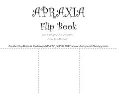 Apraxia Flip Book (Speech Chick) Apraxia flip book - Pinned by – Please Visit for all our pediatric therapy pinsApraxia flip book - Pinned by – Please Visit for all our pediatric therapy pins Speech Pathology, Speech Language Pathology, Speech And Language, Childhood Apraxia Of Speech, Articulation Therapy, Speech Therapy Activities, Free, Flip Books, Therapy Ideas