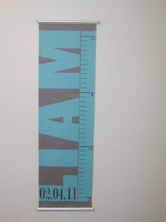 growth chart.  Like this idea on different fabric and different colors