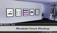Moustache Fanart Paintings