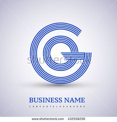 Letter GO or OG linked logo design circle G shape. Elegant blue colored letter symbol. Vector logo design template elements for company identity. - stock vector