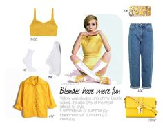 """""""Blondes have more fun"""" by marta-toscano on Polyvore featuring Isa Arfen, Casetify, Dolce&Gabbana, Topshop and Vans"""