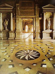 Библиотека Марчана, г. Венеция, Италия - полы терраццо 19 века