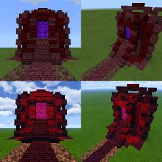Building Games 725501821205355223 - What do you think? First try on a nether portal : Minecraft Source by leonscheinfeld Minecraft Portal, Casa Medieval Minecraft, Art Minecraft, Minecraft Structures, Minecraft Castle, Minecraft Plans, Amazing Minecraft, Minecraft House Designs, Minecraft Survival