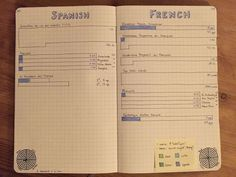 Learn how to use your bullet journal to learn and review a language, track your progress towards a language goal and create language challenges!