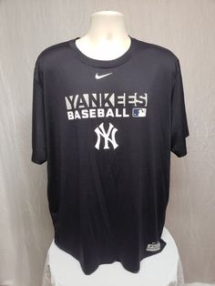 12d366faec8b Nike Dri Fit NY Yankees Baseball Adult Black 2XL Jersey. Dri Fit T Shirts  ...