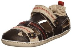 Robeez Mini Shoez My Lil Adventurer Pre-Walker (Infant/Toddler) Robeez. $19.99. Leather upper with hook and loop closure. Elasticized back. Cushioned footbed. Let him explore the world in this comfy casual. Leather-coated outsole. Leather sole. leather