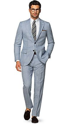 Lazio Light Blue Check suitsupply