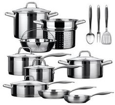 Duxtop Professional Stainless-steel 17-piece Induction Ready Cookware Set Impact-bonded Technology: Discounted Opportunity to grab this cookware set.