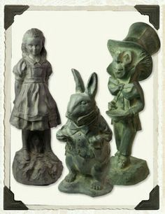 Alice In Wonderland Statue Set from Victorian Trading Co.