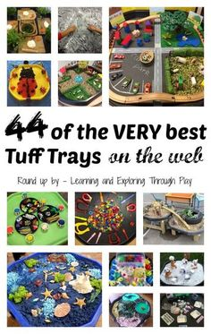 Tuff Tray ideas for Preschool Learning and Exploring Through Play Eyfs Activities, Nursery Activities, Infant Activities, Activities For Kids, Indoor Activities, Motor Activities, Play Based Learning, Learning Through Play, Preschool Learning