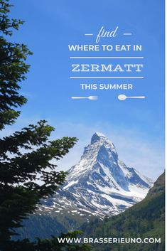 Summer in Zermatt: where to go for lunch and dinner Lunch Menu, Dinner Menu, Places To Eat, Great Places, Dinner Reservations, House Salad, Casual Restaurants, Zermatt, Dinner Options