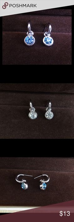Swarovski 2pairs-$13 Swarovski Crystal Earrings, limited quantity available, available in 3 colors, message for enquiry and bundle for saving on shipping cost Jewelry Earrings