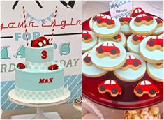 Anders Ruff Custom Designs, LLC: Little Red Race Car Party