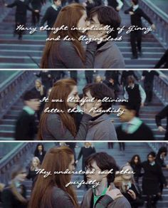 """""""Harry and Ginny are real soul mates,"""" she said. """"They're both very strong and very passionate. That's their connection, and they're remarkable together."""" - J.K. Rowling"""