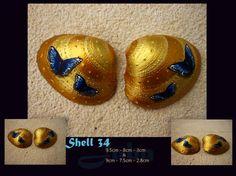 Concha 34 Pareja de mariposa conjunto de dos conchas por Jabashop