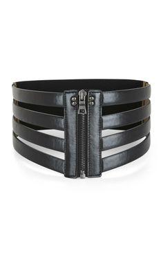 BCBG Max Azria  Cage Zip Waist Belt