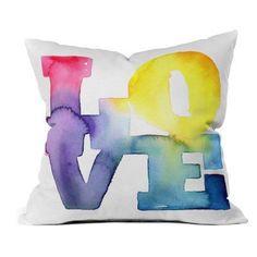 DENY Designs Cmykaren Love 4 Outdoor Throw Pillow - 15905-OTHRP18