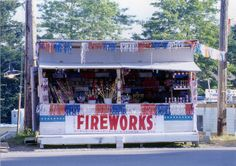 firework stands up & down main street