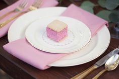 place setting with malvi marshmallows!