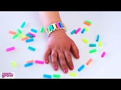 In this activity, we're going to show you how to make these sweet drinking straw bracelets.