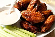 Sweet and Spicy Baked Chiken Wings.