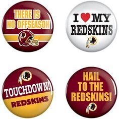Washington Redskins WinCraft 4-Pack Button Set