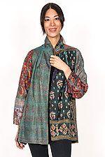 Flare Long Jacket by Mieko Mintz (Size M Silk Jacket) Long Kimono Cardigan, Batik Kebaya, Bohemian Style, Bohemian Fashion, High Fashion Outfits, Silk Jacket, Long Jackets, Mandarin Collar, Casual Wear