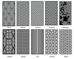 Partition Design patterns for laser cut wood. Amazing!
