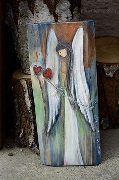 Anioł Połączonych Serce - z dwoma serduszkami zakochanych
