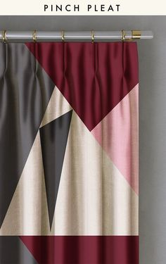 CURTAIN : PRISM©️️️️️️ // BURGUNDY - drop it MODERN - Modern and contemporary interior designed curtains for the studio and home. | #curtains #InteriorDesign #HomeDecor #bedroom #bathroom #kitchen #LivingRoom #designer #luxury #traditional #FarmHouse #MidCenturyModern