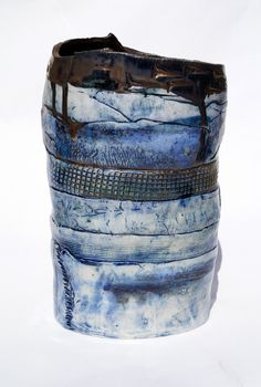 blue - vase - Jessica Jordan -Ceramic - Large ceramic work