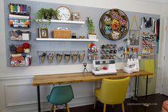 Creative Home Office Reveal | Andrea's Notebook | Bloglovin'