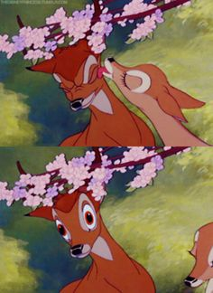 Young Bambi: What happened, Mother? Bambi's Mother: Man was in the forest. Bambi Disney, Disney Pixar, Disney And Dreamworks, Disney Kunst, Arte Disney, Disney Magic, Disney Art, Cartoon Wallpaper, Disney Phone Wallpaper
