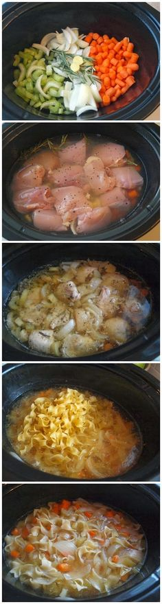 How To Make Crockpot Chicken Noodle Soup