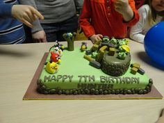 My 7 year olds Angry Bird Cake