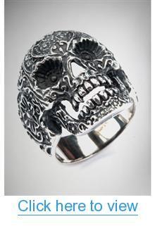 Sugar Skull Ring #Sugar #Skull #Ring